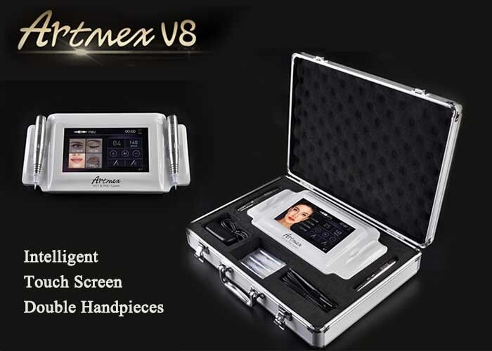 Small Digital Permanent Makeup Machine With 0.2-3.0mm Needle Adjustment