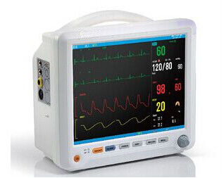 12 Inch Warna TFT LCD Display Auto Dua Alarm multi - Parameter Patient Monitor Dengan 6 parameter Standar